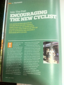 Article published in Cycling Malaysia