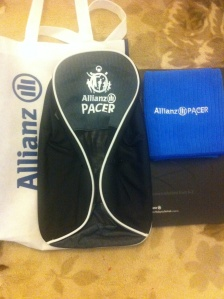Shoe bag & small towel corporate gifts