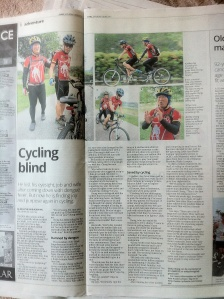 Cycling Blind appeared in The Star