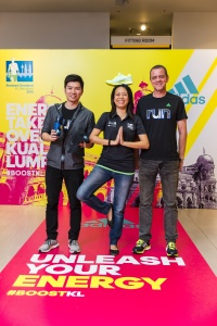 From L: David (adidas), Gloria (dirigo events) & Rainer (dirigo events)
