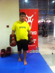 Speed Kicking Contest at One FC on 9th Oct 2015