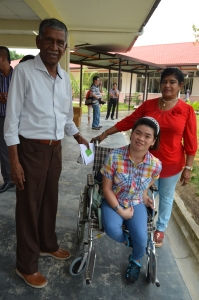 Mr & Mrs Rajamanikam with their daughter, Lee Suin Tien who they adopted as a baby 20 years ago
