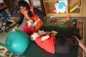 Physiotherapy for the physically disabled children