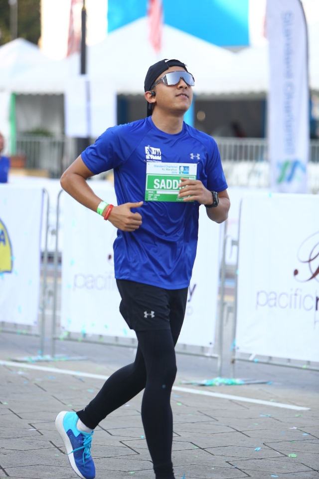 Syed Saddiq about to finish Half Marathon